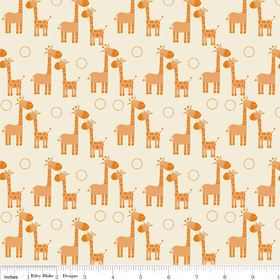 Giraffe Crossing – Orange Giraffe