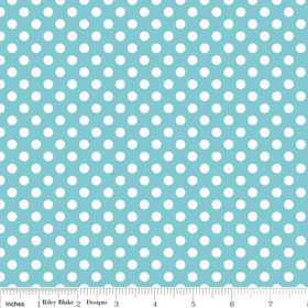 Cotton Dots - Aqua Small