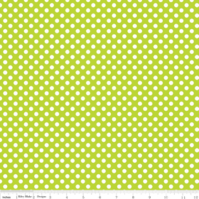 Cotton Dots - Lime Small