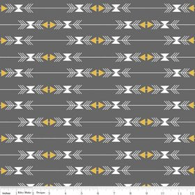 Four Corners – Stripe in Gray with Gold Sparkle