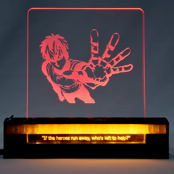 One Punch Man 3D Acrylic Dual LED