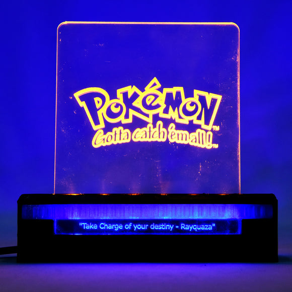 Lamhenow's Pokemon 3D printed acrylic with Dual LED lights