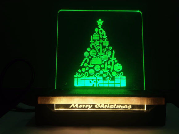 Christmas Tree 3D Acrylic Dual LED