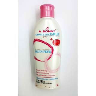 A bonne skin lightening miracle spa milk  200 ml nano white glutathione extra bleaching