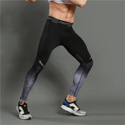 Fitness Running Tights Men 3D Print Compression Sports Leggings Athleisure - Athleisure Republic