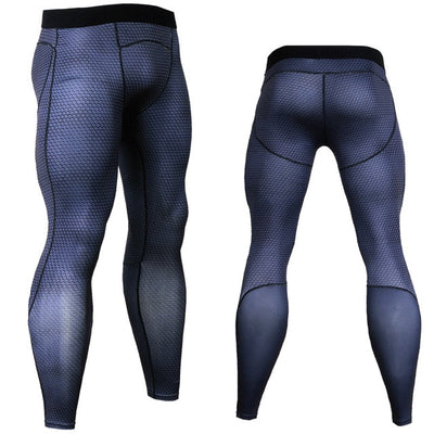 Men Running Tights Print Bodybuilding | Sports Jogging Leggings Athleisure - Athleisure Republic