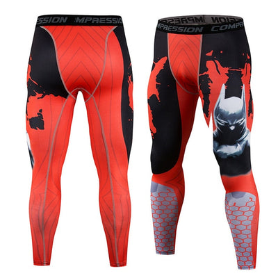 New Fitness Men Running Tights Print Bodybuilding Crossfit Sports Leggings - Athleisure Republic