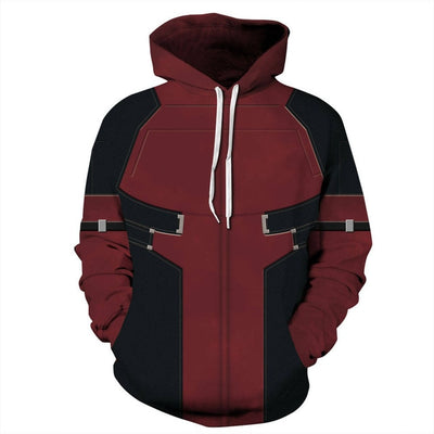 Men Sports Hoodies Deadpool Costume Athleisure Hoody Sportwear - Athleisure Republic
