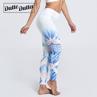 Floral Athleisure Workout Sports Leggins - Athleisure Republic