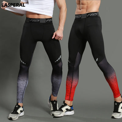 Tights Print Bodybuilding Elastic Sports Leggings | Fitness Men Running - Athleisure Republic