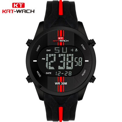 Men Sports LED Digital Watches Quartz Wristwatches Waterproof | Military Watch - Athleisure Republic