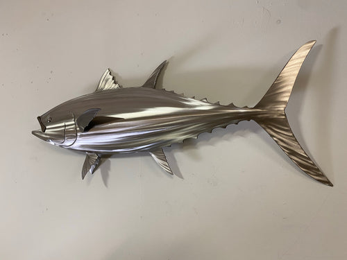 "36"" Stainless Steel Tuna, Bluefin Tuna Sculpture"