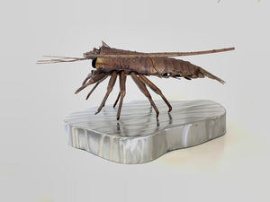 Lobster Sculpture, Metal Spiny Lobster