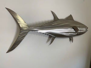 "65"" Stainless Steel Tuna Sculpture"
