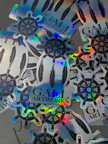 Gall Artworks Mariners Dreamcatcher Holographic Sticker