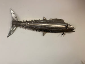 "24"" Stainless Steel Wahoo, Wahoo Wall Sculpture"