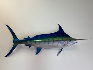 "48"" Stainless Steel Blue Marlin"