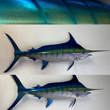 "Load image into Gallery viewer, 48"" Stainless Steel Blue Marlin"