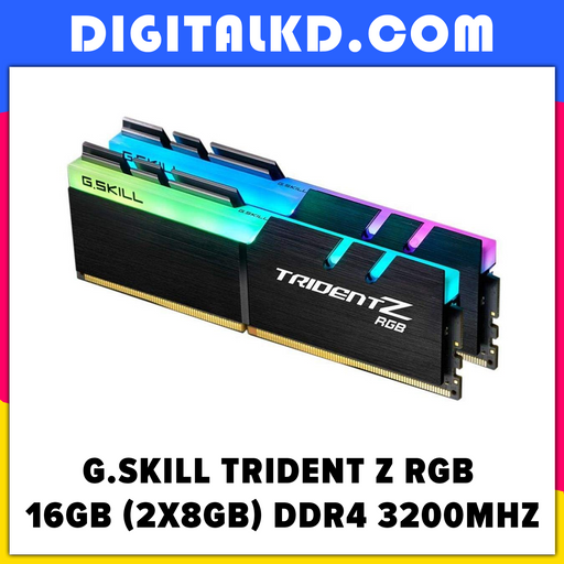 G.Skill TridentZ RGB Series 16GB (2 x 8GB) DDR4 3200MHz - DigitalKD.com