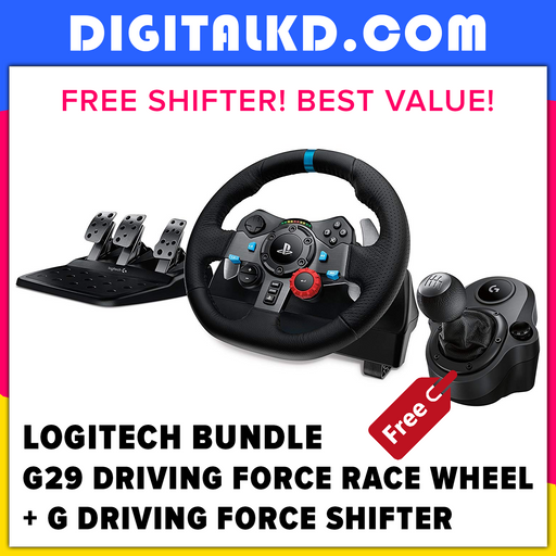 Logitech G29 Driving Force Race Wheel + Logitech G Driving Force Shifter Bundle - DigitalKD.com
