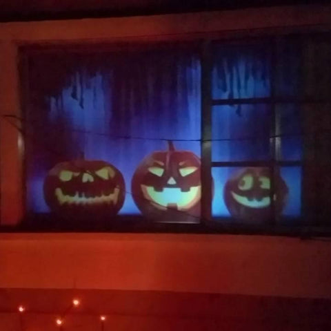 christmas halloween window projector