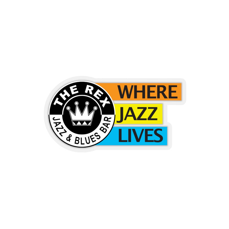 The Rex Where Jazz Lives Kiss-Cut Stickers