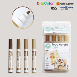 Dripcolor 4pc Edible Marker Set - Earth