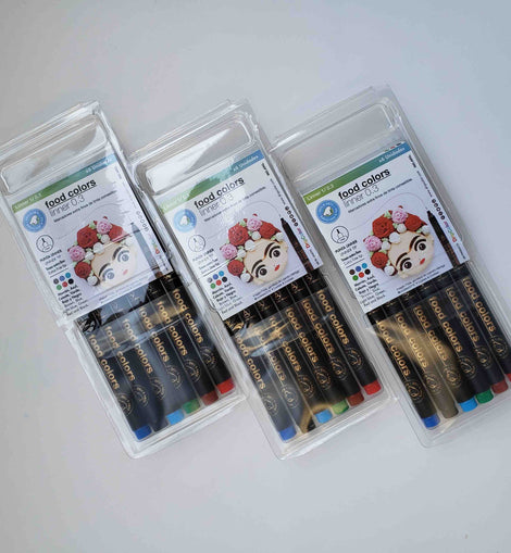 Extra Fine Tip Edible Markers 0.3mm - by Dripcolor