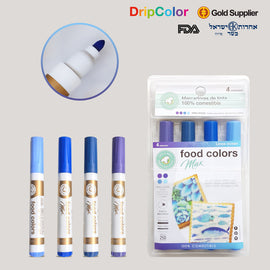 Dripcolor 4pc Edible Marker Set - Ocean