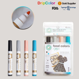 Dripcolor 4pc Edible Marker Set - Stone