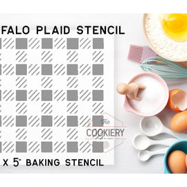 Buffalo Plaid Pattern Cookie Stencil - Baking Stencil - Cake Stencil
