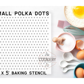 Small Polka Dots Pattern Cookie Stencil - Baking Stencil - Cake Stencil - Airbrush Stencil