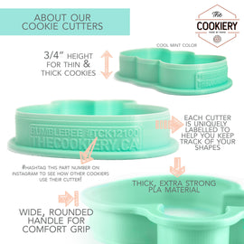 Skinny Hexagon Cookie Cutter - 3D Printed Cookie Cutter - TCK73110