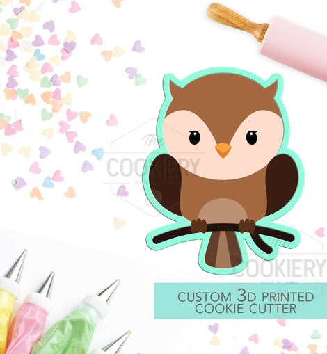 Baby Bird Cookie Cutter - Baby Owl - Woodland Animals - Lumberjack Cookie  - 3D Printed Cookie Cutter - TCK28106