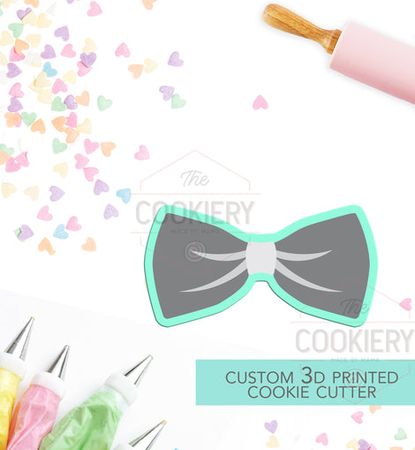 Bowtie Cookie Cutter - Groom Cookie Cutter  - 3D Printed Cookie Cutter - TCK26109
