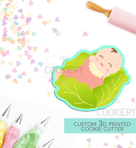 Baby Swaddled Cookie Cutter - Baby Sitting,  Baby Shower Cookie - 3D Printed Cookie Cutter - TCK32116