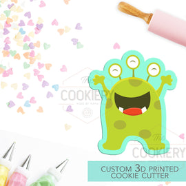 Cute Monster Cookie Cutter - Cute Alien Cookie Cutter -  3D Printed Cookie Cutter - TCK62104