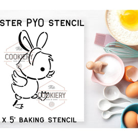 Easter Duckling PYO Stencil - Paint your Own Stencil - Cookie Stencil - Airbrush Stencil - Baking Stencil