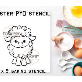 Easter Lamb PYO Stencil - Paint your Own Stencil - Cookie Stencil - Airbrush Stencil - Baking Stencil