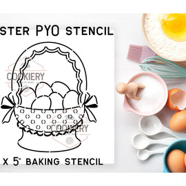 Easter Basket PYO Stencil - Paint your Own Stencil - Cookie Stencil - Airbrush Stencil - Baking Stencil