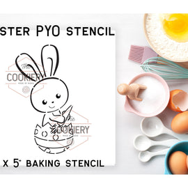 Easter Bunny PYO Stencil - Paint your Own Stencil - Cookie Stencil - Airbrush Stencil - Baking Stencil