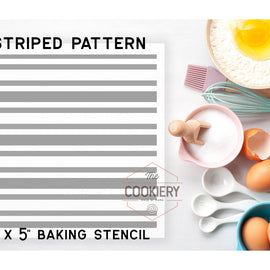 Assorted Stripes Pattern Cookie Stencil - Baking Stencil - Cake Stencil - Airbrush Stencil