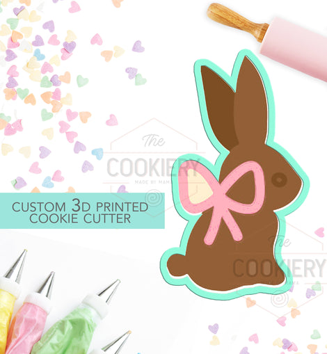 Easter Chocolate Bunny Cookie Cutter, Easter Bunny Cutter, 3D Printed Cookie Cutter - TCK121111