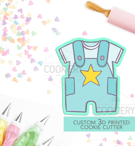 Baby Romper Cookie Cutter -  Baby Shower Cookie - 3D Printed Cookie Cutter - TCK32110