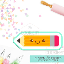 Chubby Pencil Cookie Cutter -  Back to School - 3D Printed Cookie Cutter - TCK52107
