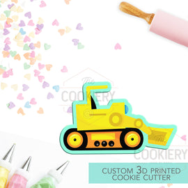Bulldozer Truck Cookie Cutter, Construction Cookie Cutter, Automobile Cookie Cutter- 3D Printed Cookie Cutter - TCK58109