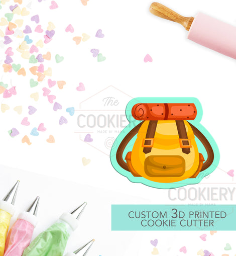 Rucksack Cookie Cutter - Backpack Cookie Cutter - Camping Cookie Cutter - 3D Printed Cookie Cutter - TCK64105
