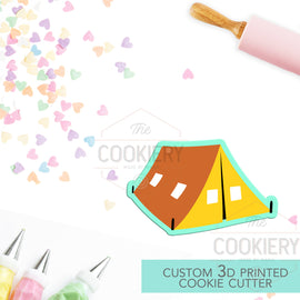 Tent Cookie Cutter - Camping Tent Cookie Cutter - Camping Cookie Cutter - 3D Printed Cookie Cutter - TCK64106