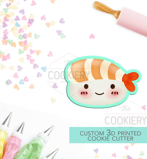 Sushi Cookie Cutter - Kawaii Sushi Cookie Cutter  - 3D Printed Cookie Cutter - TCK22119