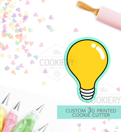 Light bulb Cookie Cutter - LightBulb Cookie Cutter - 3D Printed Cookie Cutter - TCK58120